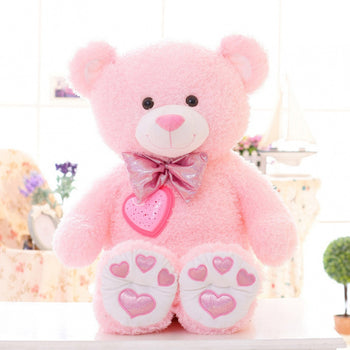 Pink Teddy Bear Can Luminescence Children Gift