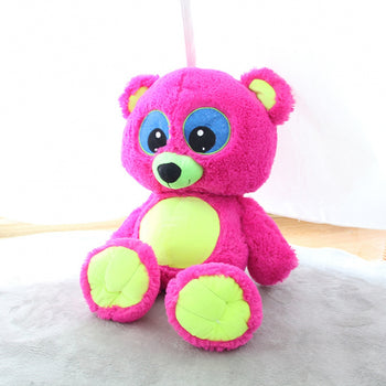 Red Teddy Bear Doll Big Eyes Children Gift