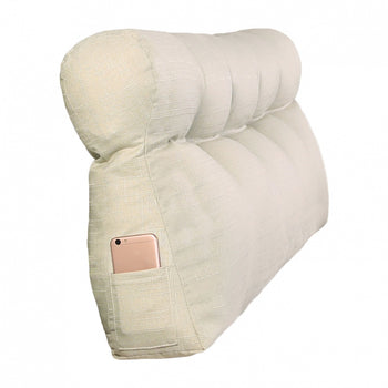 Triangular Cushion Bed Backrest Removable Cover - MxDeals.com
