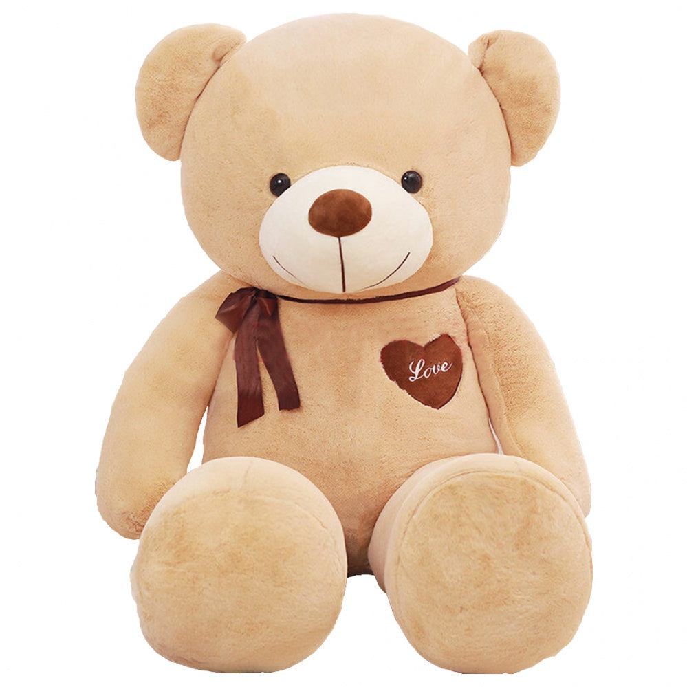 Light Brown Teddy Bear with Ribbon Many Kinds of Size Valentine's Day Gift