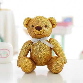 High-Grade of Teddy Bear Doll Beautiful Golden Color Children Gift - MxDeals.com