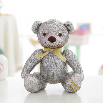 High-Grade of Teddy Bear Doll Beautiful Jorg Gray Color Children Gift - MxDeals.com