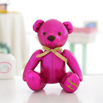 High-Grade of Teddy Bear Doll Beautiful Rose Red Color Children Gift - MxDeals.com