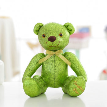High-Grade of Teddy Bear Doll Beautiful Green Color Children Gift - MxDeals.com