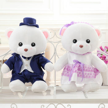 Teddy Bear Doll Couple's a Valentine's Day Gift Married Gift - MxDeals.com