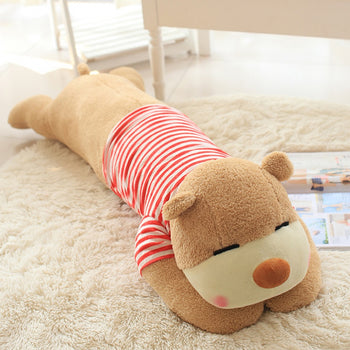 Teddy Bear Tummy Large Can Be Used as Bed Pillow Wear Red Clothes - MxDeals.com