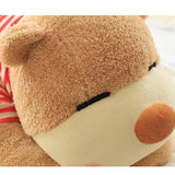 Teddy Bear Tummy Large Can Be Used as Bed Pillow Wear Red Clothes