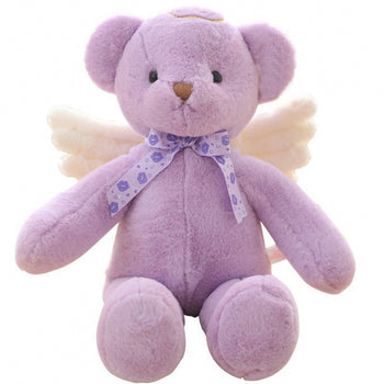 Angel Teddy Bear Doll Purple Children Gift - MxDeals.com