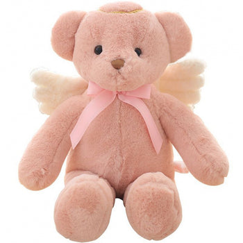 Angel Teddy Bear Doll Pink Children Gift - MxDeals.com