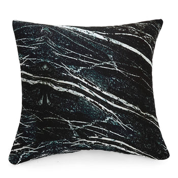 Three-Dimensional Curve Square Living Stones Floor Pillows Home Decoration Stuffed Throw Pillows Big Rock Pillows New Pebble Pillows Photo Or Film Props 17x17Inches Black Marble