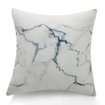 Three-Dimensional Curve Square Living Stones Floor Pillows Home Decoration Stuffed Throw Pillows Big Rock Pillows New Pebble Pillows Photo Or Film Props 17x17Inches White Marble