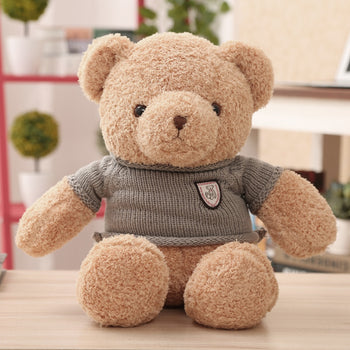 Small Teddy Bear Doll Light Brown Wear Sweater Lovely - MxDeals.com