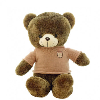 Teddy Bear Doll Khaki Wear Sweater Children Gift - MxDeals.com