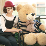Teddy Bear Doll Wear Striped Sweater Perfect of Gift