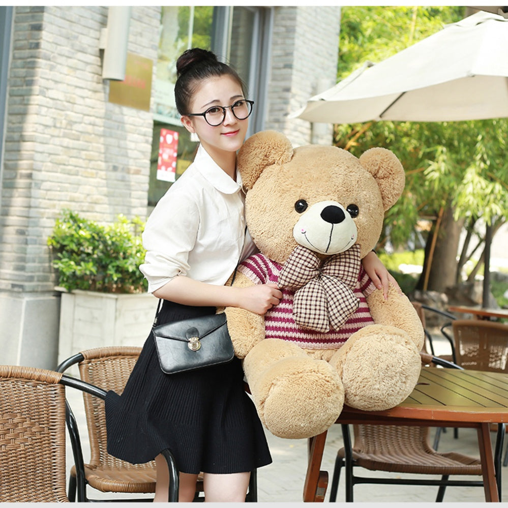 Teddy Bear Brown Wear Sweater with Bow Tie