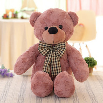 Teddy Bear Plush Toys Brown-Red - MxDeals.com