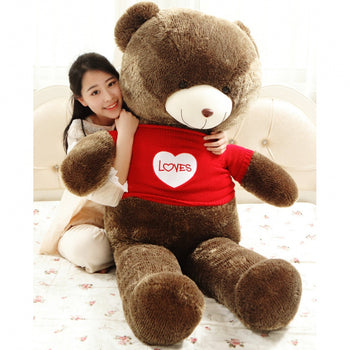 Teddy Bear Doll Wear Red Lovely Sweater Valentine's Day Gift - MxDeals.com