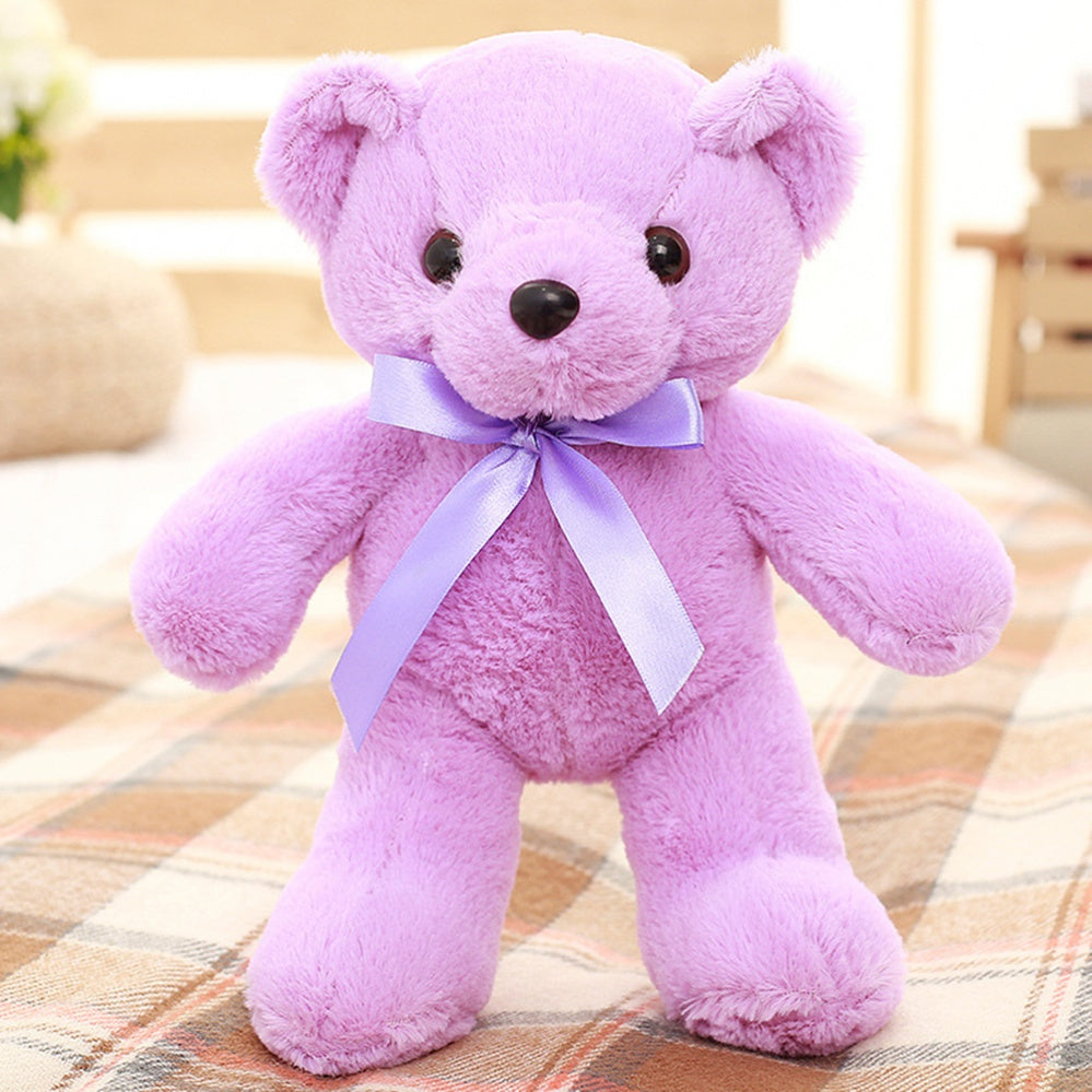 Teddy Bear Doll Purple Plush Toys