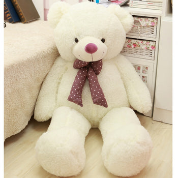 Silk Velvet Teddy Bear White Christmas Gift