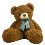 Silk Velvet Teddy Bear Doll Green Children Gift