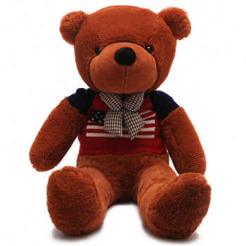 Wear Sweater of Dark Brown Teddy Bear Two Kind of Size - MxDeals.com