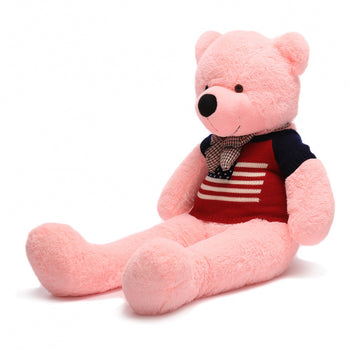 Wear Sweater of Pink Teddy Bear Two Kind of Size