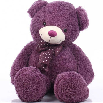 Silk Velvet Teddy Bear Doll Purple - MxDeals.com
