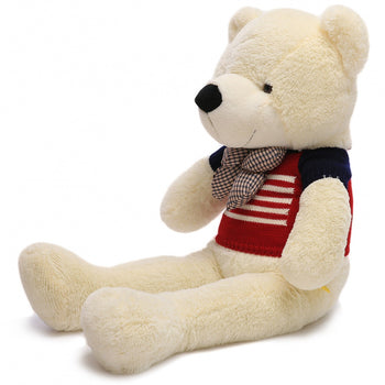 Wear Sweater of White Teddy Bear Two Kind of Size