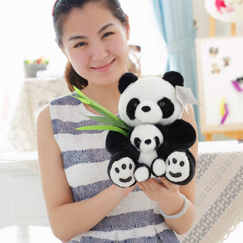 Mother Children Panda Doll Black Many Kinds of Size - MxDeals.com