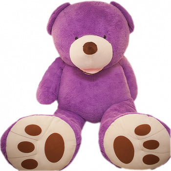 American Super Big Teddy Bear Amazing of Gift Purple