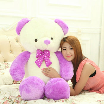 Candy Teddy Bear Doll Purple - MxDeals.com
