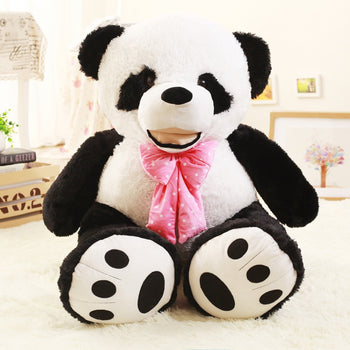 Giant Panda with Pink Bow Tie