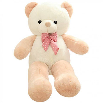 Candy-Colored Teddy Bear with Bow Tie
