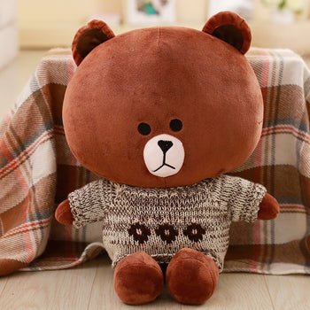 Brown Teddy Bear Wear Jorg Gray Sweater Children Gift