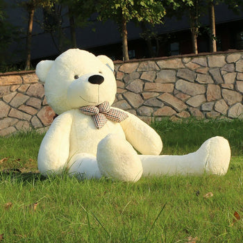 Off-White Cuddly Super Soft Plush Stuffed Animal Toys Teddy Bear Toy Doll - MxDeals.com