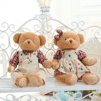 Couple's Teddy Bear Wear Texture Clothes - MxDeals.com