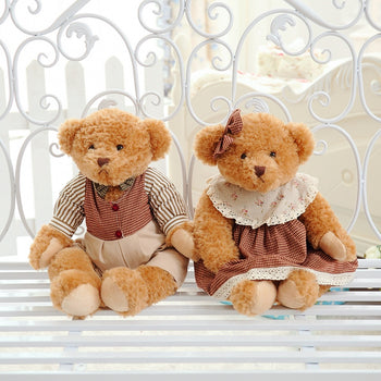 Couple's Teddy Bear Wear Texture Clothes