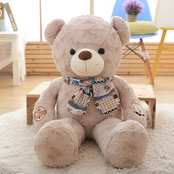 Light Brown Teddy Bear New Style Wear Scarf