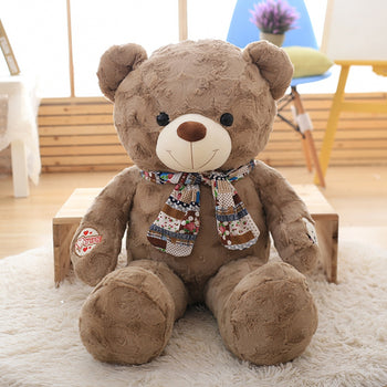 Dark Brown Teddy Bear New Style Wear Scarf