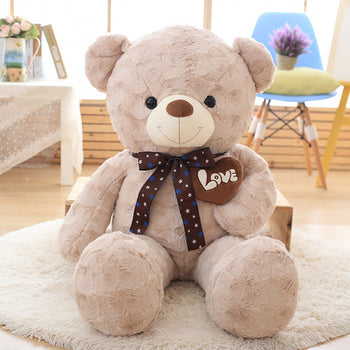 Light Brown Teddy Bear New Style Hold Heart - MxDeals.com