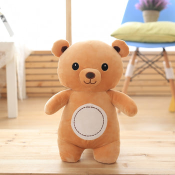 Brown Standing of Teddy Bear down Cotton Fabric - MxDeals.com