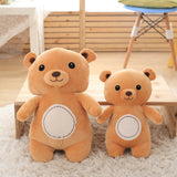 Brown Standing of Teddy Bear down Cotton Fabric