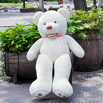 White Teddy Bear Mouth Teddy Bear American Big Teddy Bear - MxDeals.com
