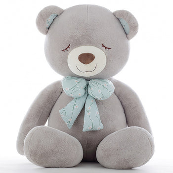 Jorg Gray Teddy Bear Big Bow Tie Squinting