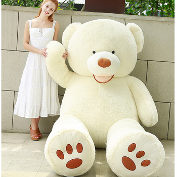 White Mouth Teddy Bear American Big Teddy Bear - MxDeals.com