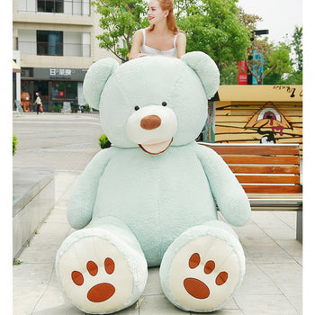 Mouth Teddy Bear American Big Teddy Bear Blue - MxDeals.com