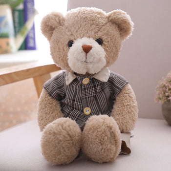 Brown Plaid Shirt Teddy Bear - MxDeals.com