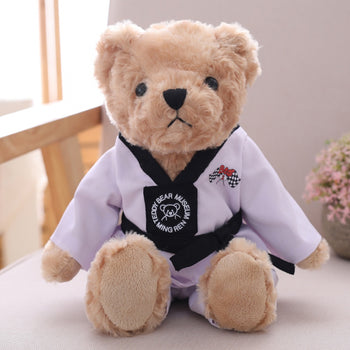 White Belt Taekwondo Teddy Bear