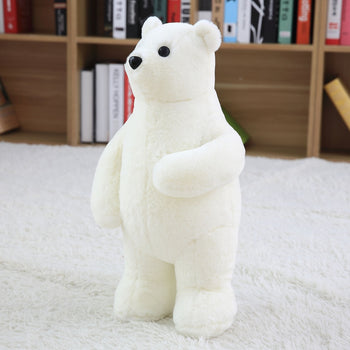 White Cuddly Stuffed Animals Plush Polar Bear Teddy Bear Toy Doll for Birthday Children's Day Valentine's Day - MxDeals.com