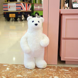 White Cuddly Stuffed Animals Plush Polar Bear Teddy Bear Toy Doll for Birthday Children's Day Valentine's Day